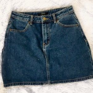 Trending now-Forever 21 denim mini skirt